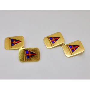 English Yacht club cufflinks - Benzie of Cowes
