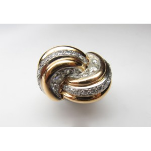 Gold and diamond knot style ring