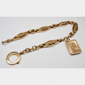 Watch chain with picture holder