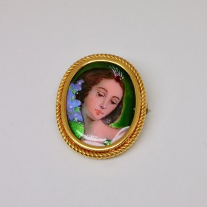 Portrait of a Lady in polychrome enamel