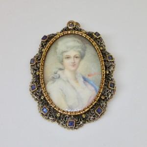 Antique portrait of a lady miniature