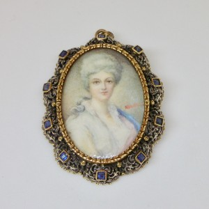 Antique portrait of a lady miniature