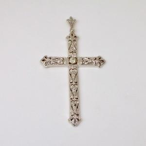 Croce deco oro e platino