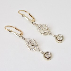Deco' diamond earrings
