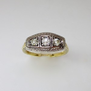 Trilogy old cut diamond ring
