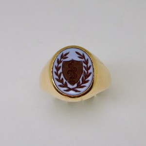 Signet ring with Rod of Ascelpius