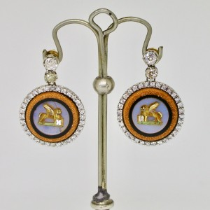 Micromosaic earrings
