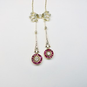 Diamond and rubies necklace
