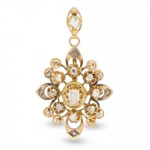 Antique diamond pendant