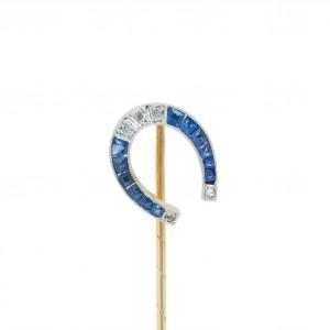 Horse shoe stick pin
