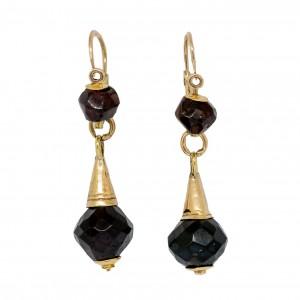 Antique faceted garnet earrings