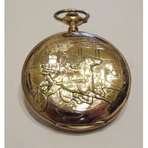 Initiative Pocket watch with bas-relief