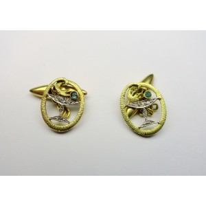 Cufflinks in gold with diamonds 1930s