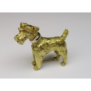 Dog shaped brooch
