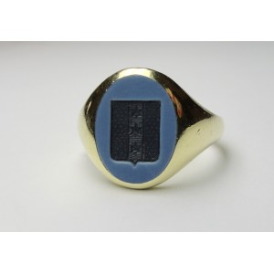 Seal ring in bicolour agate medium size